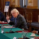 (Left to right) International Trade Secretary Liz Truss, Health Secretary Matt Hancock, Prime Minister Boris Johnson and Chancellor Rishi Sunak