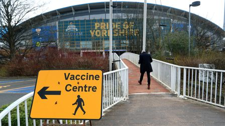 A Vaccine Centre near the John Smith's Stadium, Huddersfield