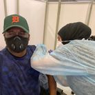 City Gates churchgoer Noel Robinson was one of the people to get the Covid jab at the vaccine pop-up clinic.