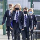File photo dated 02/09/20 of pupils wear protective face masks as they returned to Outwood Academy A