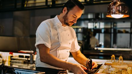 Chef Jason Atherton at work in the kitchen.
