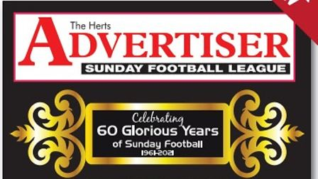 The cover of the Herts Ad Sunday League's anniversary book