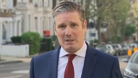 Keir Starmer calls for parliament business to resume after Easter. Photograph: Sky News.