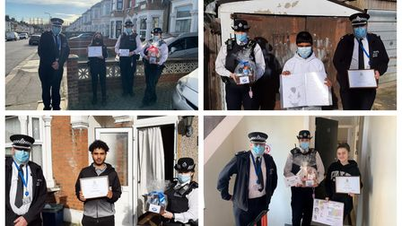 Redbridge Safer Schools officers gave out awards for the best artwork in their mental health awareness competition.