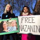 Hampstead and Kilburn MP Tulip Siddiq (right) with then Ham&High editor Emily Banks at a march for Nazanin in 2017