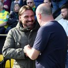 Norwich Head Coach Daniel Farke and Wigan Athletic Manager Paul Cook before the Sky Bet Championship