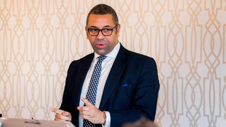 James Cleverly Chairman of the Conservative Party during the launch of the Northern Ireland Conserva
