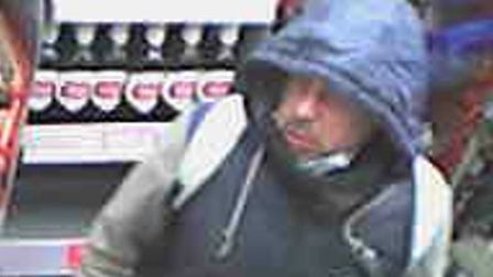 Police want to speak to this man in relation to an assault in a shop in Trimley St Martin.