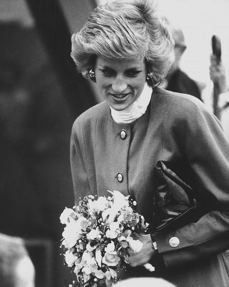 Princess Diana visits Riddlesworth Hall in Norfolk in April 1989