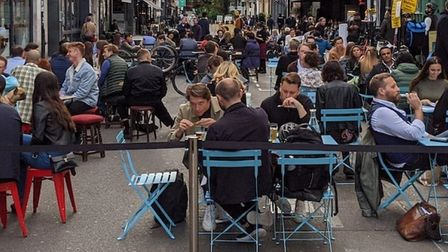 Al fresco dining will return to Westminster as lockdown restrictions are eased