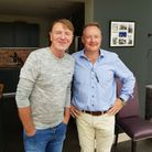 Phil Tufnell with Alchemy Wines director David Rowledge