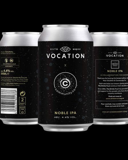 The Noble IPA raises funds for The Drinks Trust with 10p of each unit going to the cause