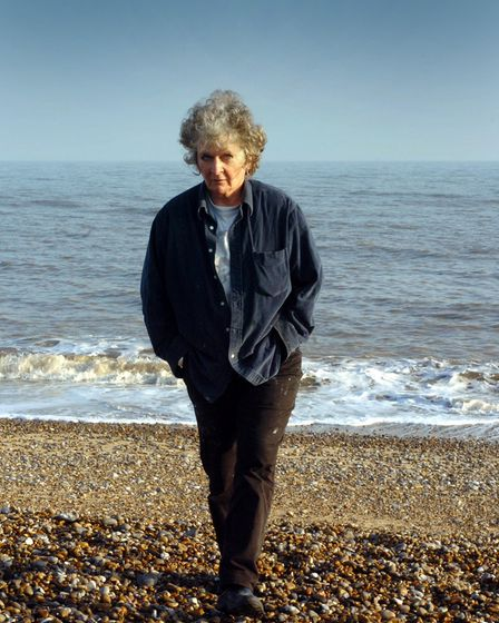 Maggi Hambling on Aldeburgh beach, Suffolk in 2006.
