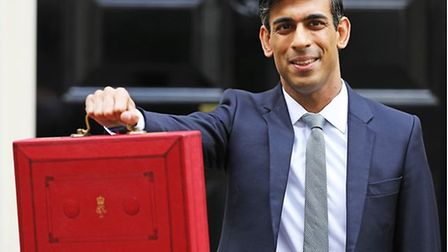 Chancellor Rishi Sunak outside Number 11