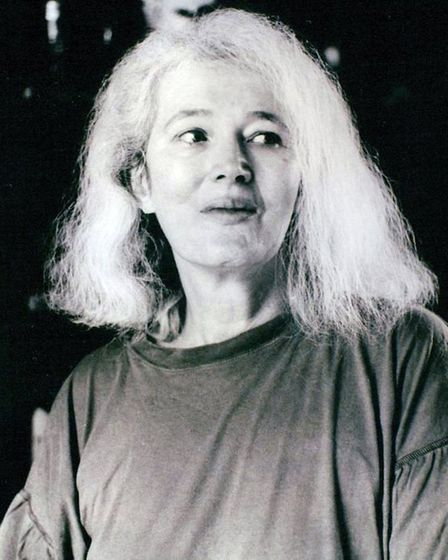 Black and white photograph of acclaimed author Angela Carter