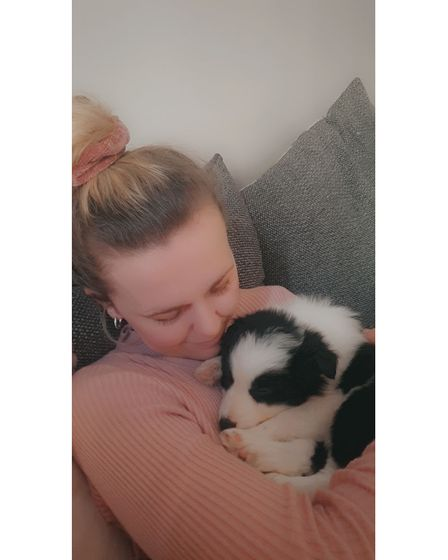Lucy Jacobsen of Martlesham Heath with Storm the puppy