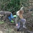 Louisa had to perform a ditch rescue on one of her walks.