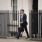 Chancellor of the Exchequer, Rishi Sunak outside 11 Downing Street, London, before heading to the Ho