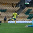 Emiliano Buendia of Norwich celebrates scoring his side's 1st goal during the Sky Bet Championship m