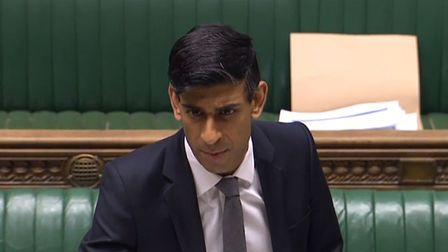 Chancellor Rishi Sunak speaking in the House of Commons in Westminster. Photograph: Owen Humphreys/P