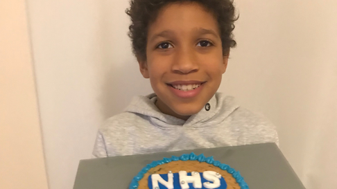 Kaleb Hanson has been encouraging his friends to help him raise money for NHS charities.