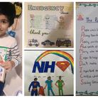 Pupils from Al Misbaah Academy in Seven Kings showed their appreciation for frontline workers.
