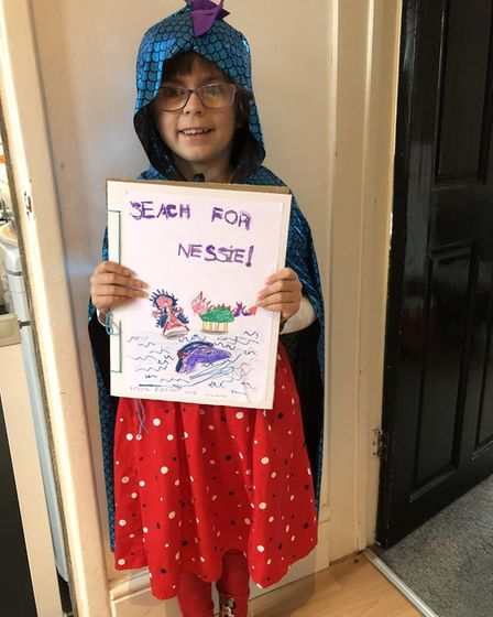 Freya, aged 6, dressed as a character from her very own book. She's in Year 2 at Mandeville Primary School in St Albans