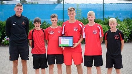 Sandringham's director of sport Andy Cracknell pictured with Ryan O'Sullivan, Ivan Raath, Andre Raath, Alex Smith and...