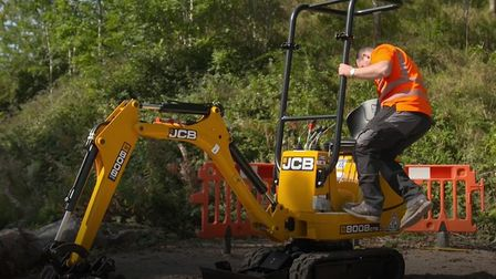 A yellow and black JCB 008 mini digger similar to the one pictured was stolen from a site on Church Road in Emneth on...