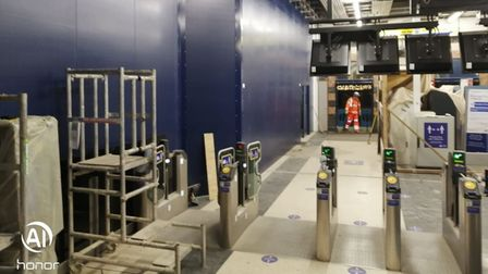 Romford station in the works.