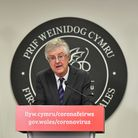 First Minister Mark Drakeford speaking at a press conference in Cardiff ahead of Wales entering a tw