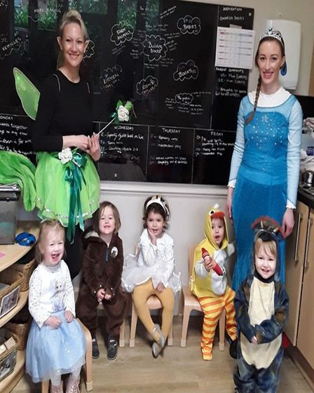 Staff and pre-schoolers at Grasshoppers Day Nursery dressed as their favourite characters, including Elsa from Frozen and...