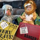 Twins at Munns Farm Day Nursery dressed as a Lion and an Elephant