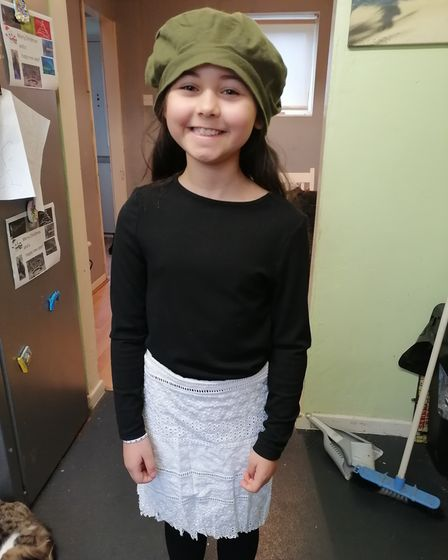 Zahra is dressed up for World Book Day