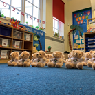 Bernards Heath's 'Welcome Back Bears' eagerly await the pupil's arrival on Monday (March 8)