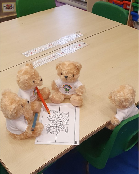 The Welcome Back Bears commemorate the year of disrupted learning faced by pupils at Bernards Heath Infant and Nursery School