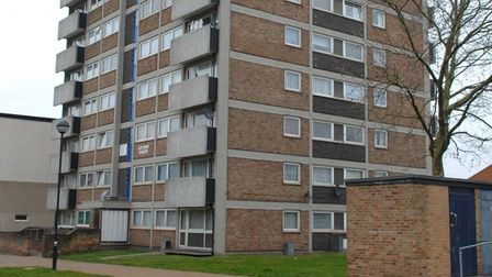 Aylmer Tower, Lefroy road where a woman fell to her death last night(MON).
