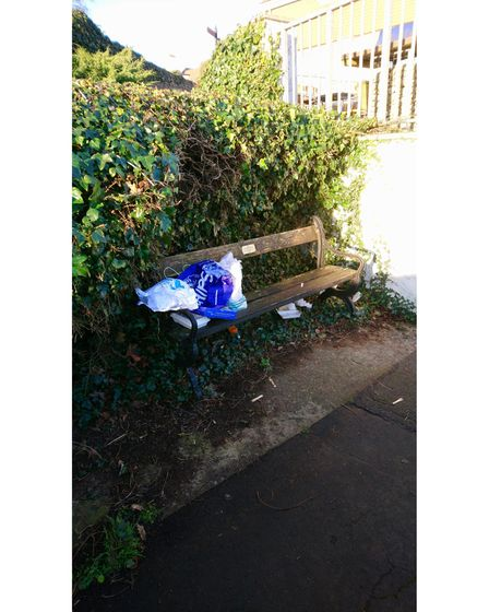 Litter on Babbacombe Downs