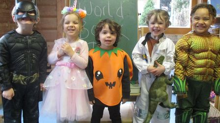 Children attended Harpenden Central Day Nursery and Pre-School dressed as their favourite characters for World Book Day