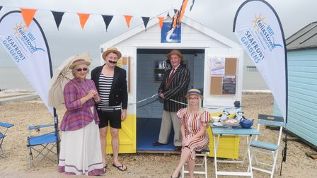 Official opening of beach huts on Felixstowe seafront to act as Tourist Information Points