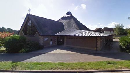 Four teenage boys were seen trying to steal the defibrillator from St Michael's and All Angels Church in Martlesham Heath