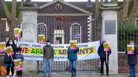 Campaigners outside Hackney's Museum of the Home