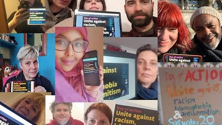 A collage of photos shared in support of the UN's Day of Action against Racism.