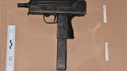 A handgun and ammunition recovered from Darren Dixon's Kentish Town home.