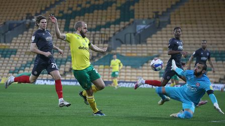 Teemu Pukki was named Norwich City's player-of-the-month for February after a goal burst of seven in five games
