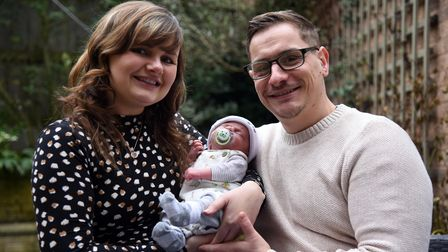 Rachael spent over 24 hours in labour with Oakley alone before Ben was allowed in to the hospital