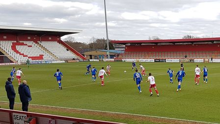 Stevenage took on Harrogate Town in a League Two match at the Lamex Stadium