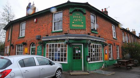 The Dyers Arms in Lawson Road, Norwich, before the closure of the pub.