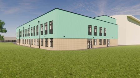 Artist impression of new building at Sprowston Community Academy.