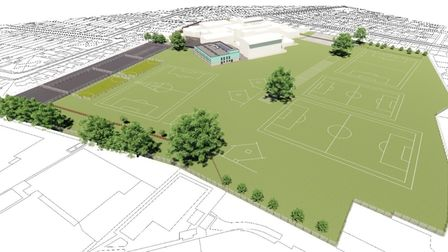 Proposed new building at Sprowston Community Academy will include 14 extra classrooms.